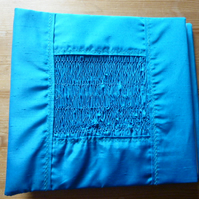 Large Hand Smocked Silk Photograph Album, Turquoise