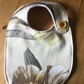 Dorset Button Trimmed Bib, Yellow and Taupe Floral  B4