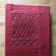 Hand Smocked Silk Photograph Album, Rose Colour