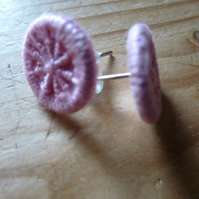 Dorset Button Earrings, Pink