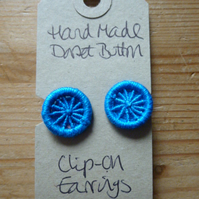 Dorset Button Clip-on Earrings, Turquoise