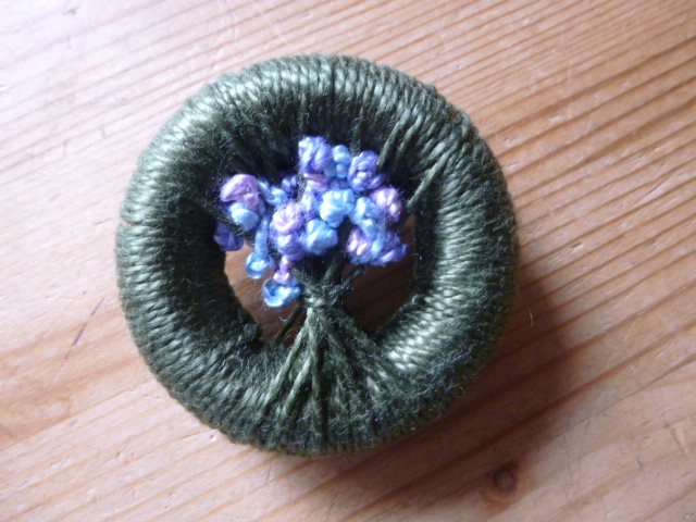 Vintage Style Dorset Button Posy Brooch, Dorchester, 12 February 2020