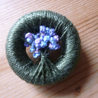 Vintage Style Dorset Button Posy Brooch, Dorchester, 22 October 2019