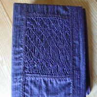 Hand Smocked Silk Photograph Album, Purple Colour