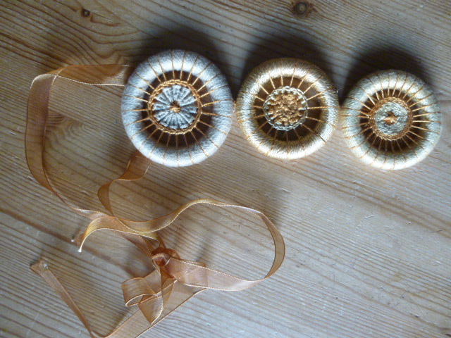 Chunky Dorset Button Neck Piece, Sun and Sand