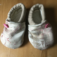 Dorset Button Trimmed Toddler Slippers, age 12 - 18 m,  Fawn and Pink S21