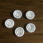 Set of 5, 18 mm, Dorset Cross Wheel Buttons, Yarrells, Ivory, D4