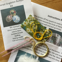 Kit to Make a Dorset Singleton Button in Liberty Print 'Mitsi'