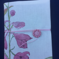 A6 Notebook with Dorset Button Closure, Pink Floral