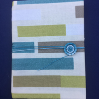 A6 Notebook with Dorset Button Closure, Colour Block Stripes