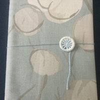 A6 Notebook with Dorset Button Closure, Pale Blue