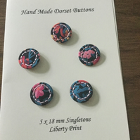 Set of 5, 18 mm, Traditional Dorset Singleton Buttons, S2
