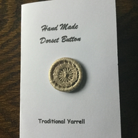 Hand Made Dorset Crosswheel Button, Traditional Yarrell Pattern, Ecru, 25 mm