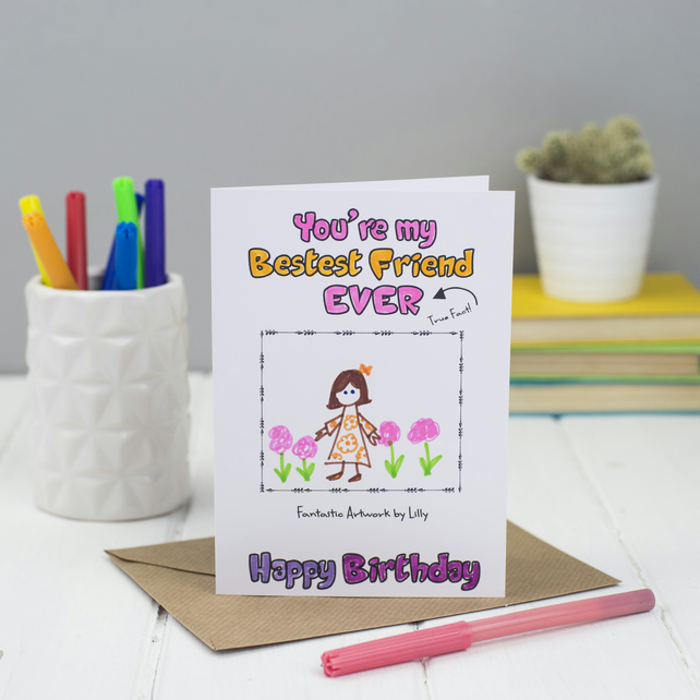 Birthday Card for Friend, Personalised