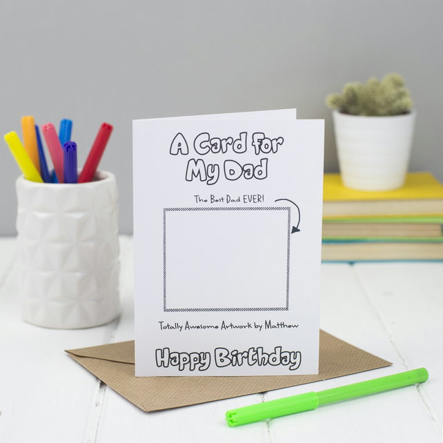 Happy Birthday Dad Card - Personalised