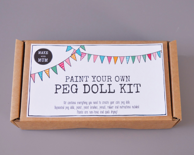 Paint your own Peg Dolls