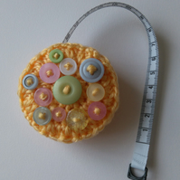 Crocheted Retractable Tape Measure