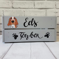 Hand painted Dog Toy Crate