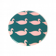 Duck Print Pocket Mirror