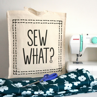 Sew What? Sewing Project Tote Bag - Craft Storage Bag - Cotton - CST402