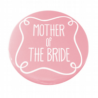 Mother of The Bride Pocket Mirror - Pink