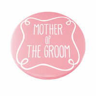Mother of The Groom Pocket Mirror - Pink