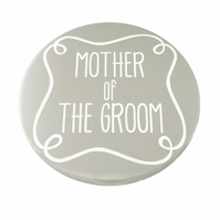Mother of The Groom Pocket Mirror - Grey