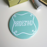 Bridesmaid Pocket Mirror - Aqua