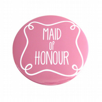 Maid of Honour Pocket Mirror - Pink