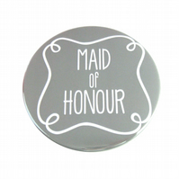 Maid of Honour Pocket Mirror - Grey