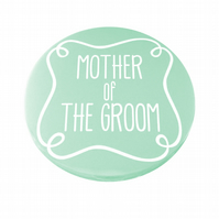 Mother of The Groom Pocket Mirror - Aqua