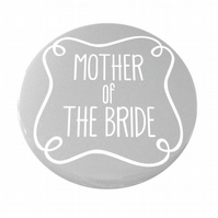 Mother of The Bride Pocket Mirror - Grey