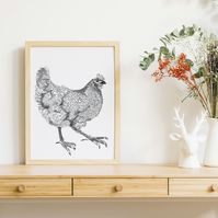 Happy Hen Art Print