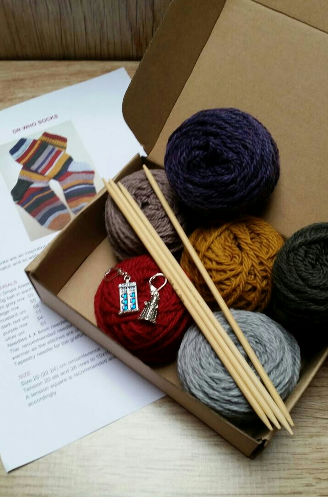 Dr Who Socks Knitting Kit