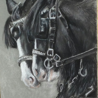 Original Artwork 'The boys' pastel work