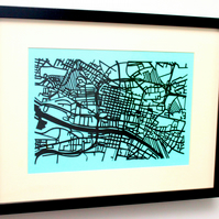 Glasgow City Handmade Papercut