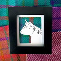 Scottish Highland Cow framed papercut