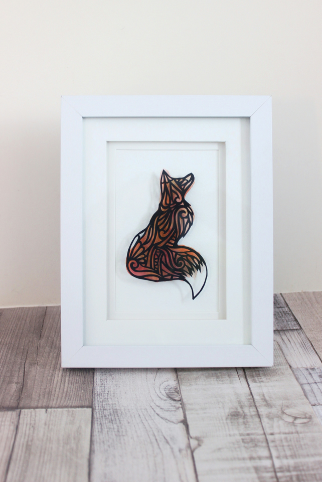 Framed Fox Papercut