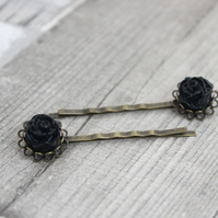 Black Flower Hair Accessory