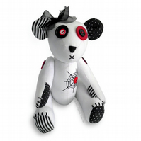 "Gothic Teddy Bear Unique 12"" Soft Toy Paper Sewing PATTERN & Easy Instructions"