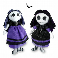 "Vesper 10""  Gothic Rag Doll Paper Sewing Pattern & Easy Instructions"