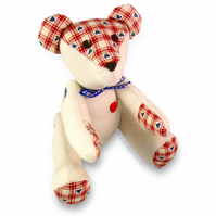 "Cute 9"" Teddy Bear Craft Paper Sewing PATTERN & Full Easy Instructions"