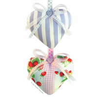 Lavender Hanging Heart Fabric Paper Sewing PATTERN & Easy Instructions 10cm