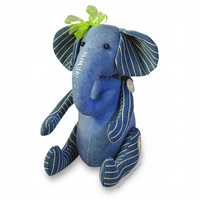 "Ella Elephant Button Jointed 10"" EASY Fabric Sewing PATTERN Soft Toy"
