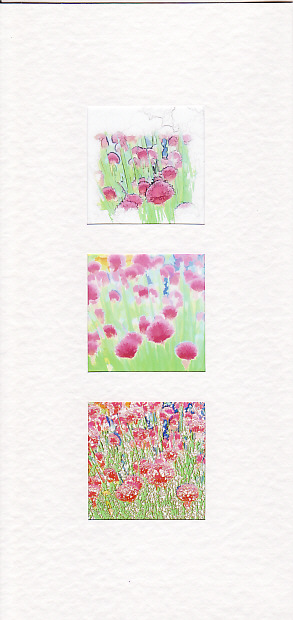 SALE - Chive Flower Images 2  - Greetings Card or Notelet -  Floral Photo Prints