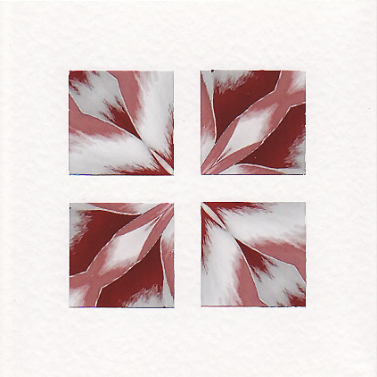 SALE - Pink Kaleidoscope Image  -  Greetings Card or Notelet - Photo Prints