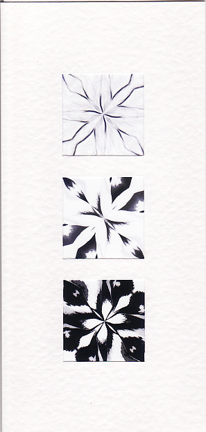 SALE - Black & White Kaleidoscope Images  - Greetings Card -  Photo Prints