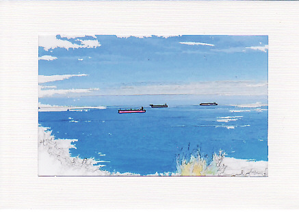 SALE - Ships at Sea Image 1 - Greetings Card or Notelet - Scenic Photo Print