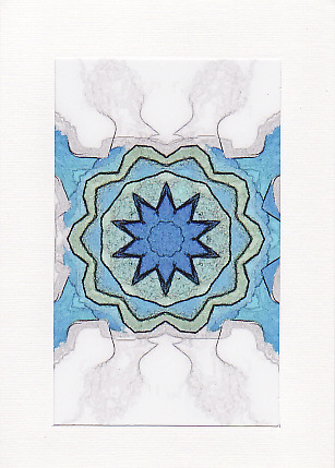 sale - Kaleidoscope Image 2  - Greetings Card or Notelet -  Photo Print