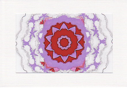 SALE - Kaleidoscope Image 4  - Greetings Card or Notelet -  Photo Print